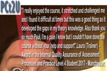 Laura IQA Student Manchester