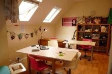 Our lovely workroom