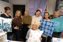 Beginners with their successful cushions