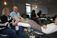 Learning Reflexology is fun at Jubilee College