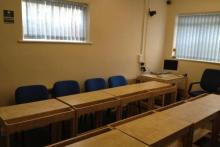 Classroom for ESOL, SIA, PTLLS, Food and hygiene and First Aid courses.