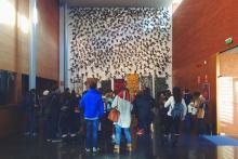 Students visiting Teatre de L'Escorxador